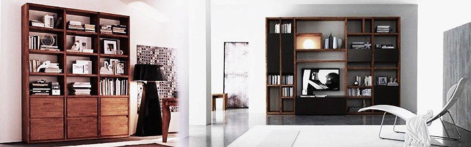 libreria in legno massello arredamento online abitastore